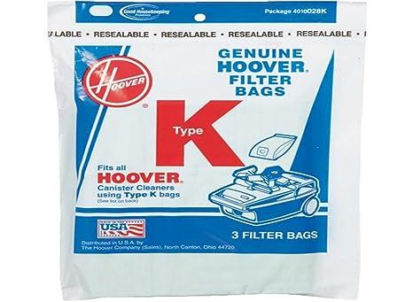 Amazon.com: Hoover tipo K Canister aspiradora bolsas de ...