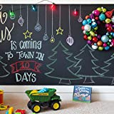 Rabbitgoo Blackboard Wall Sticker Peel and Stick Chalkboard Contact Paper Adhesive Chalk Board(Black) 17.7 by 78.7 Inches with 5 Colored Chalks for School/ Office/ Home
