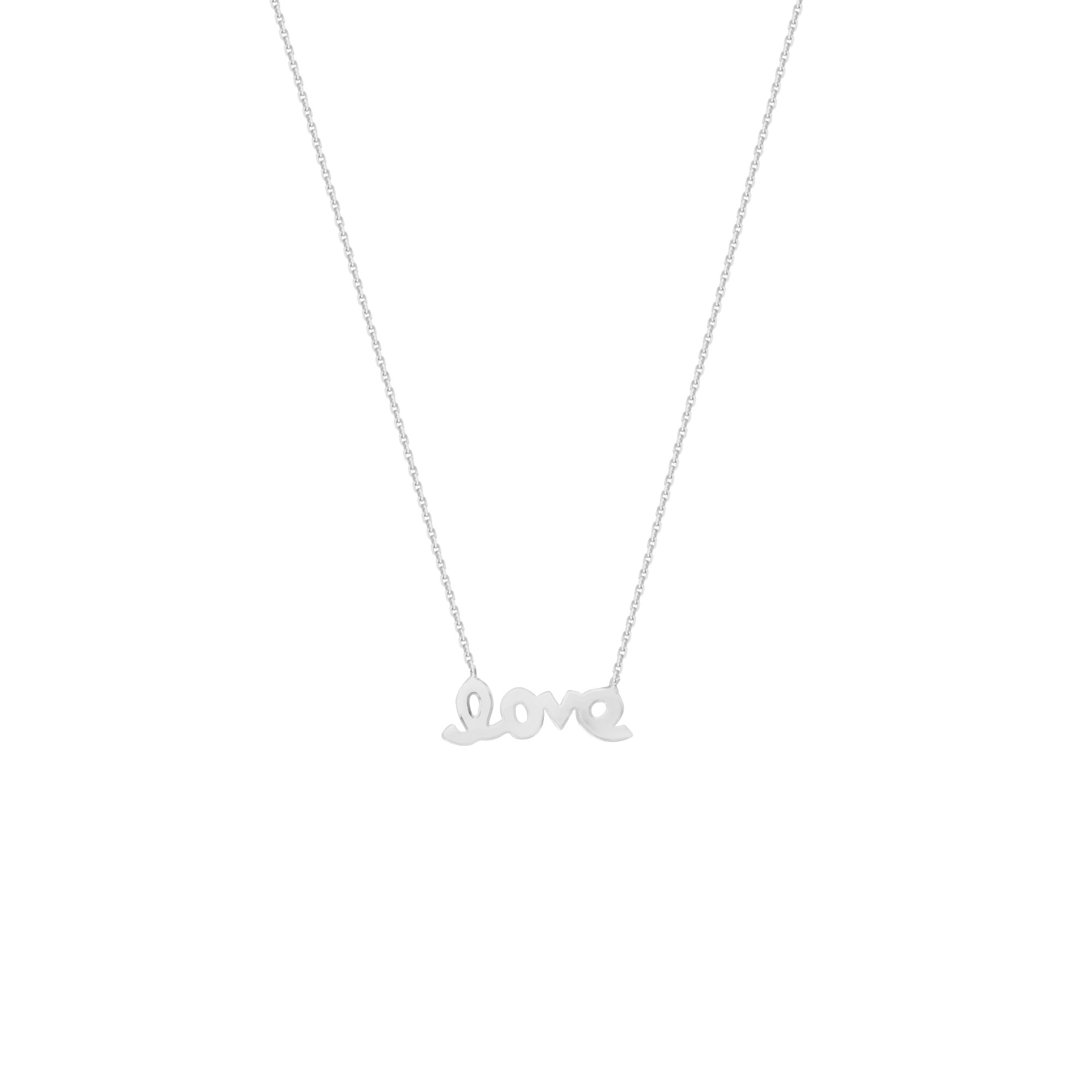 LOVE NECKLACE, 14KT GOLD NECKLACE 18'' INCHES