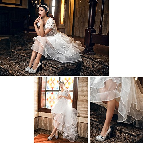 LIANGJUN Women Shoes High-heeled Ankle Boots Fashion Wedding, 7 Sizes Available ( Size : EU33=UK3=L:215mm )