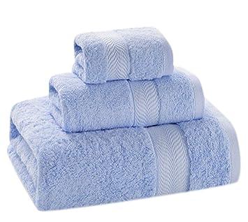 Toallas con Tres Juegos de Toallas de algodón Suave (Incluyendo una Toalla Cuadrada una Toalla Facial una Toalla de baño): Amazon.es: Hogar