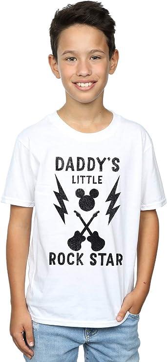 Disney niños Mickey Mouse DaddyS Rock Star Camiseta: Amazon ...