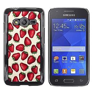 TopCaseStore / la caja del caucho duro de la cubierta de protección de la piel - Strawberries Love Berries Summer Red - Samsung Galaxy Ace 4 G313 SM-G313F