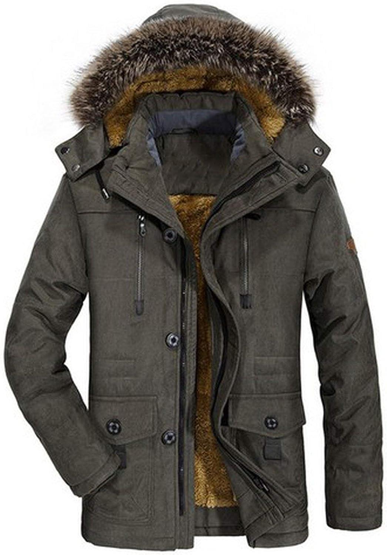 Mens Overcoat,Men Winter Hoodie Thickening Velvet Windbreaker Coat,Jackets for Men
