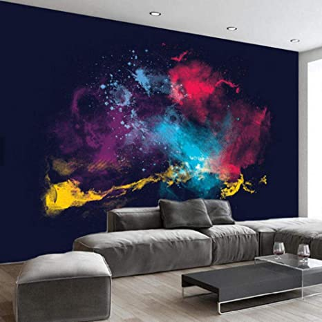 Bizhige 3d Abstract Photo Mural Wallpaper Color Smoke Design