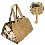 Canvas Firewood Log Carrier, Fireplace Canvas Log