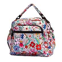 Prettybag Women Floral Casual Hobo Purse Cross-body Handbag Satchel Tote Bag