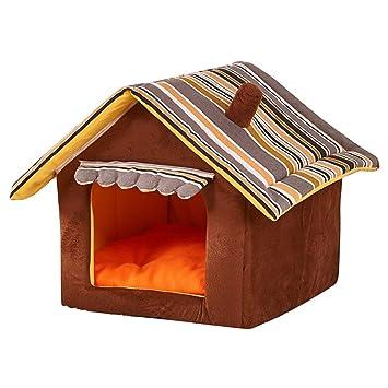 JEELINBORE Plegable Portátil Caseta Casa para Mascota Cama para Perro o Gato (Café, M: 45 * 35cm): Amazon.es: Productos para mascotas