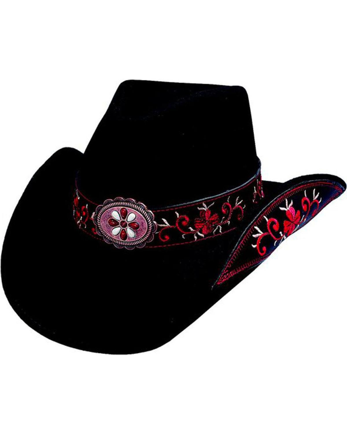 Bullhide Women's All For Good Wool Cowboy Hat Red Large