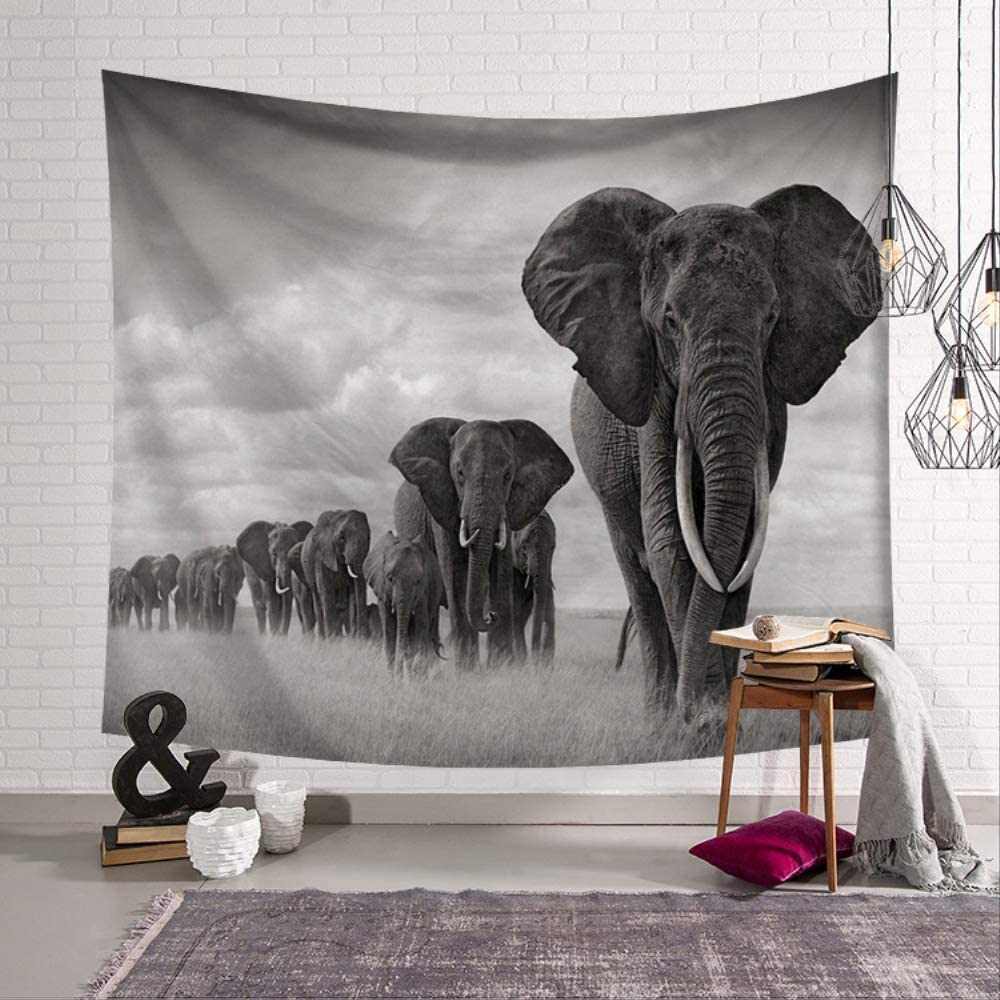 Wall Tapestry Tapestries Bedspread Throw Blanket Yoga Mat Elephant 60inch