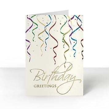 Pack Of 25 Wall Street Greetings Premium Elegant Streamers Birthday