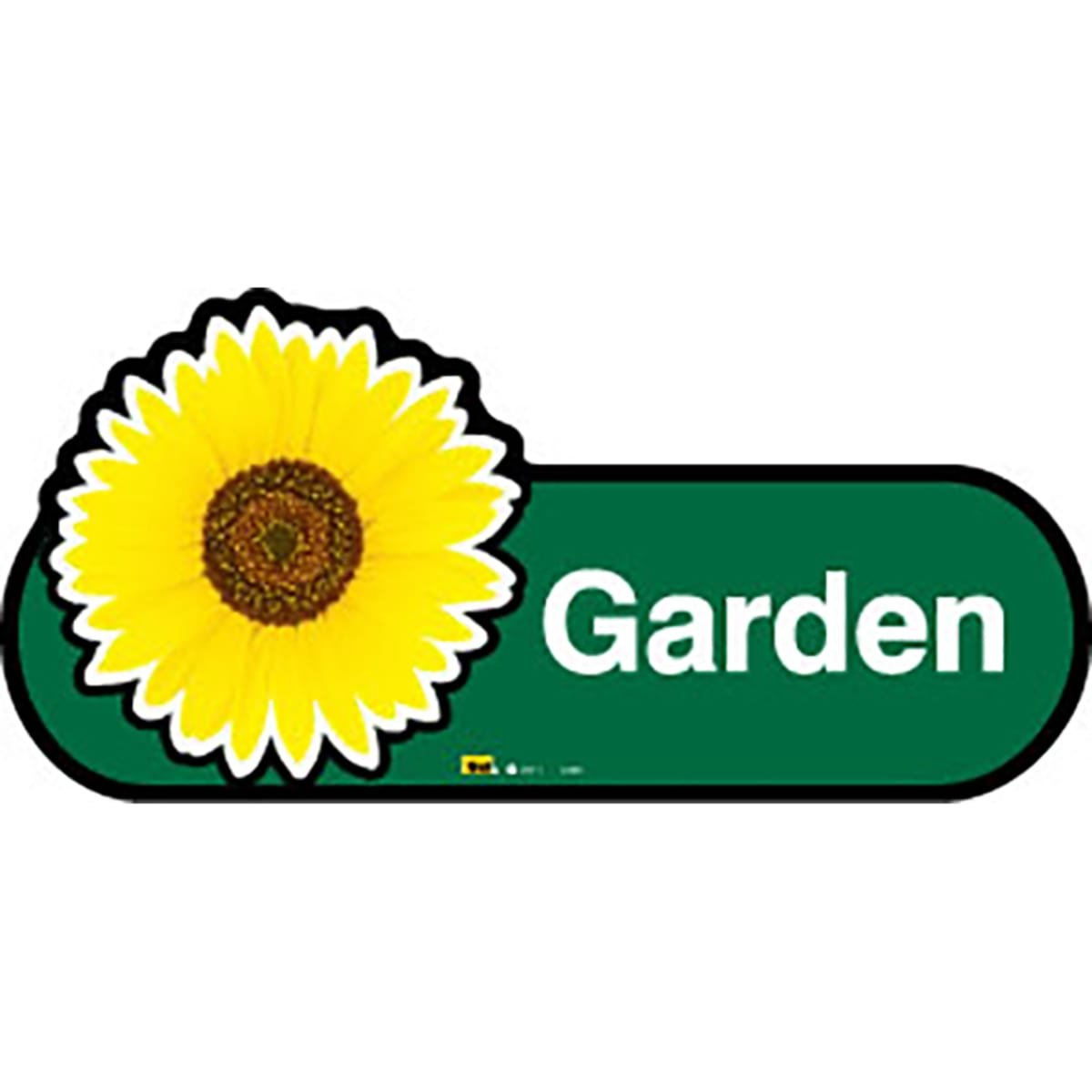 Dementia Friendly Garden Room - Green Sign -400mm Wide with Screw Fix by Dementia Friendly