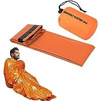 SKYSPER Saco de Emergencia Saco de Dormir Supervivencia Aislamiento Térmico Impermeable Exterior Albergue Manta Hoja de…