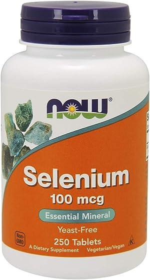 Now Foods, Selenium, Yeast Free, 100 mcg, 250 Tablets (2 PACK)