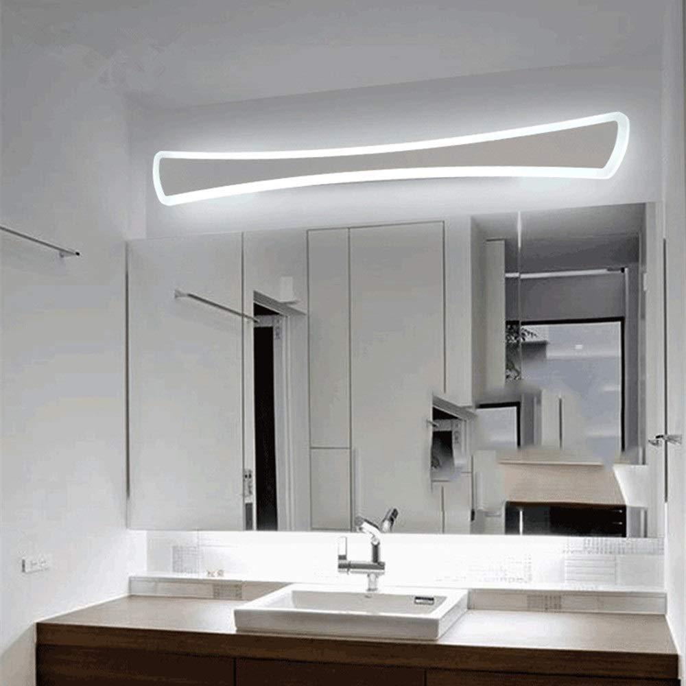 Heguowei Modern Minimalist Mirror Headlights Led Bathroom Bathroom Dressing Table Luxury Mirror Cabinet Lamp Acrylic Makeup Mirror Lamp Waterproof Anti-Fog Lamp (Color : Gray, Size : 40cm/11W)