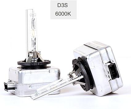 / Lot De Deux Ampoules D3S HID Lampe De Voiture X/énon Ampoules De Rechange 35/W 6000/K Haute Et Basse Faisceau SHFY Kits De Conversion T/ête Lights 1/Yr Garantie
