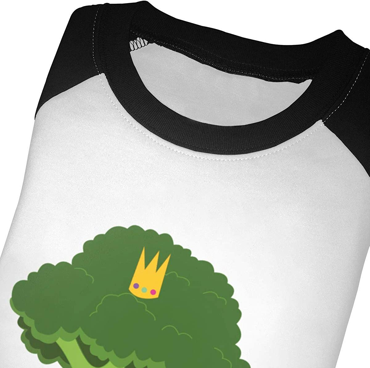 Kocvbng I Playing Guitar Broccoli Raglan 3//4 Sleeve T-Shirt for Girls Boy
