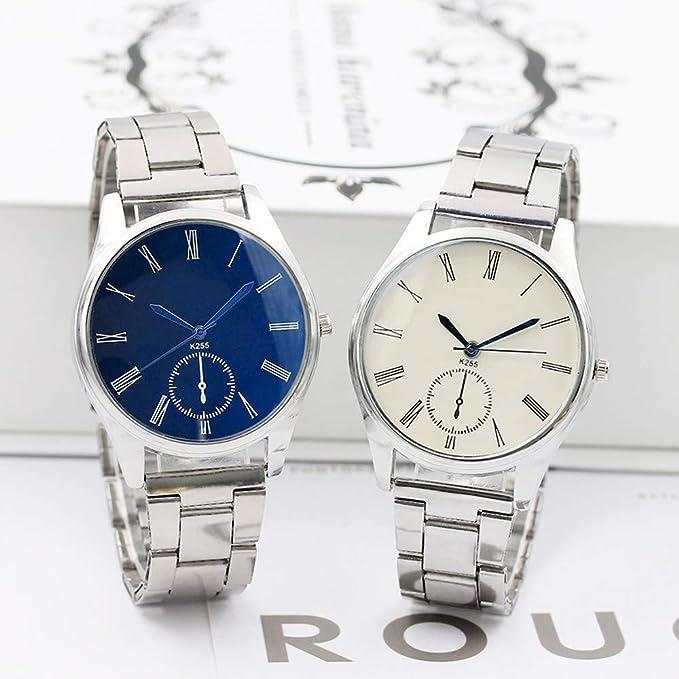 Beladla Relojes Hombre Digitales Cristal Acero Inoxidable Cuarzo AnalóGico Reloj De Pulsera Banda De Acero Inoxidable Lujo Relojes De Pulsera: Amazon.es: ...