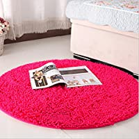 Ustide Hot Pink Girls Room Rug Soft Living Room Small Carpet 23.62inches
