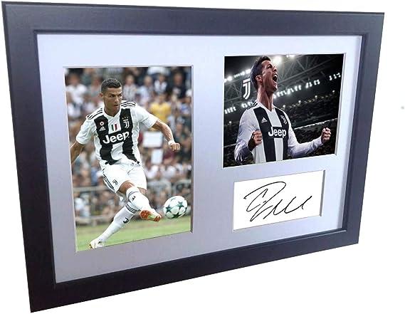 Man Utd Madrid Cristiano Ronaldo Signed A4 A3 Framed Prints Autograph Juventus
