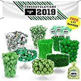 Green Graduation Candy Buffet Class of 2019 (Approx 14lbs) - Includes Hershey's Kisses, Frooties, Dum Dums Lollipops, Gumballs and More