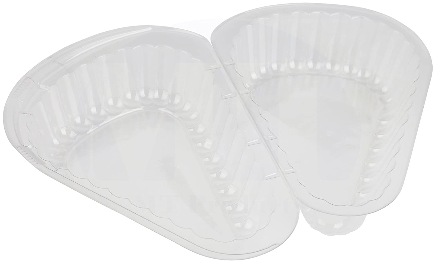 Cheesecake //Cake Slice Container by MT Products Pack of 20 Hinged Small Plastic Pie