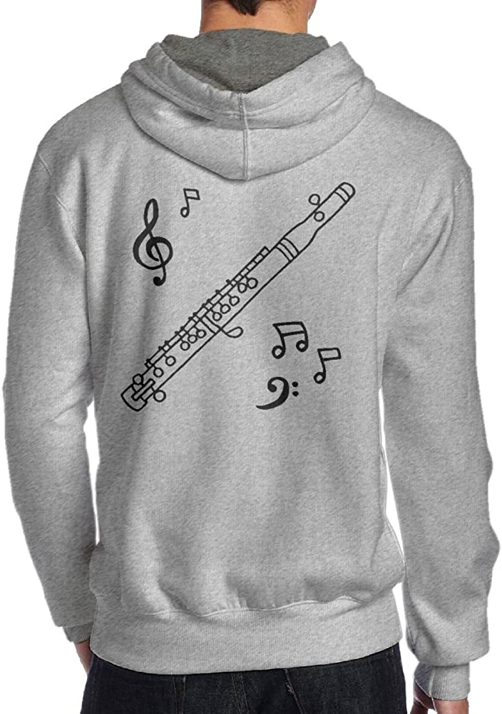 Jessicagf1990s Gift For Flute Clipart Mens Printed Hoodie