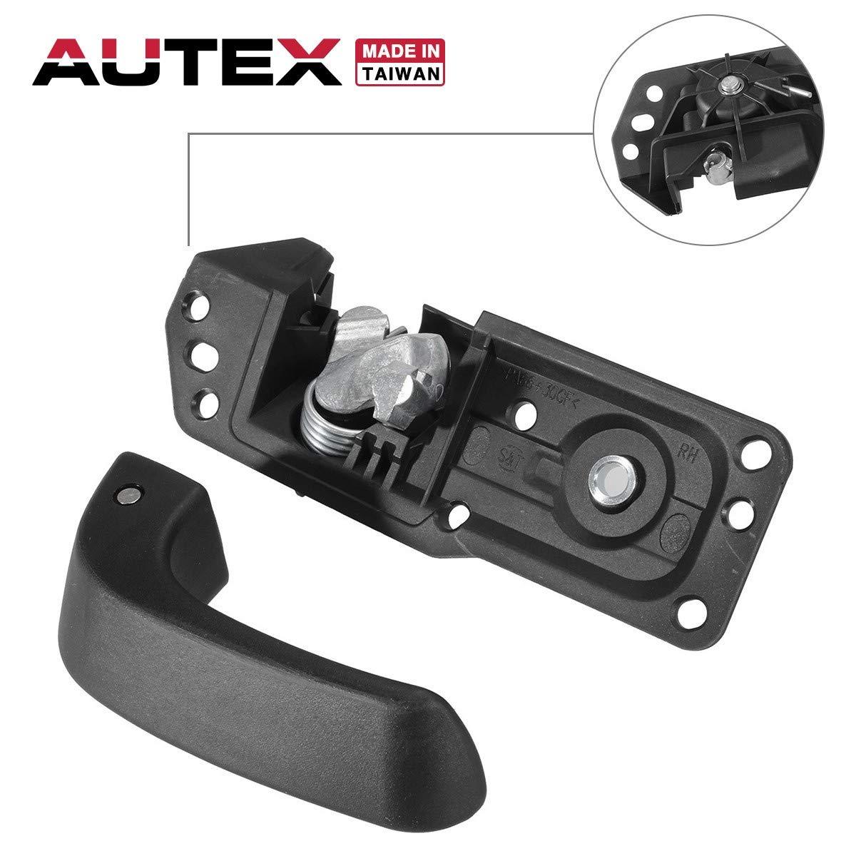 AUTEX 80375 Front/Rear Right Door Handle Interior Inside Passenger Side Compatible with 2007 2008 2009 2010 2011 2012 2013 Chevy Silverado 1500/2500HD/3500HD GMC Sierra 1500 2500HD 3500 20833602