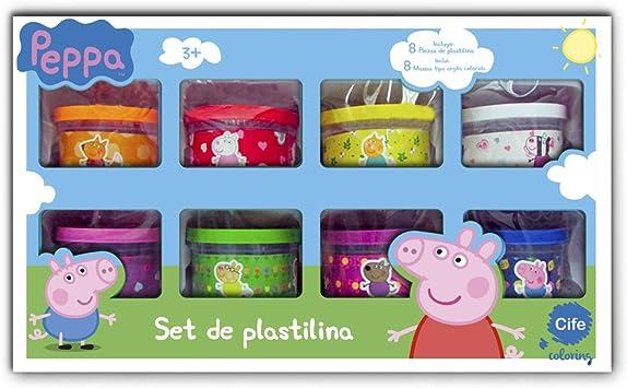Peppa Pig Coloring - Pack de 8 Botes de plastilina, diseño (Cife 86564): Amazon.es: Juguetes y juegos