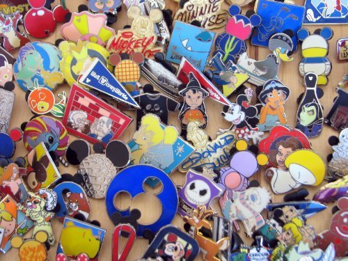 Disney Hidden Mickey Cast Lanyard Collector Badge Pin LOT of 75 Pins NO DOUBLES by Disney