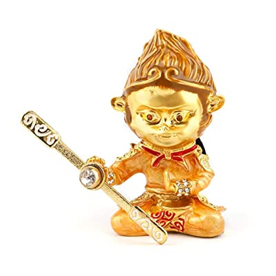 Cococart Monkey King Car Perfume Vent Clip Air Freshener Diffuser Zinc Alloy Great Hero Sun Wukong Automobiles Smell Decorative (Gold): Automotive [5Bkhe1004350]