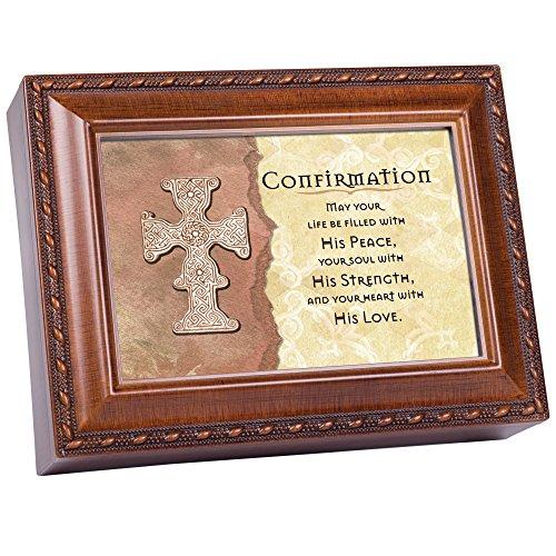 (Cottage Garden Confirmation Woodgrain Inspirational Music Box Plays Friend in Jesus)