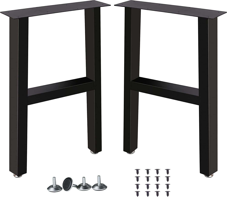 "Lenpea Metal Table Legs Square Tube Table Legs,Heavy Duty Desk Legs Dining Table Legs Industrial Furniture Legs Table lega ,Modern Coffee Table Legs,Iron Table Legs,Set of 2 28"" Height 18"