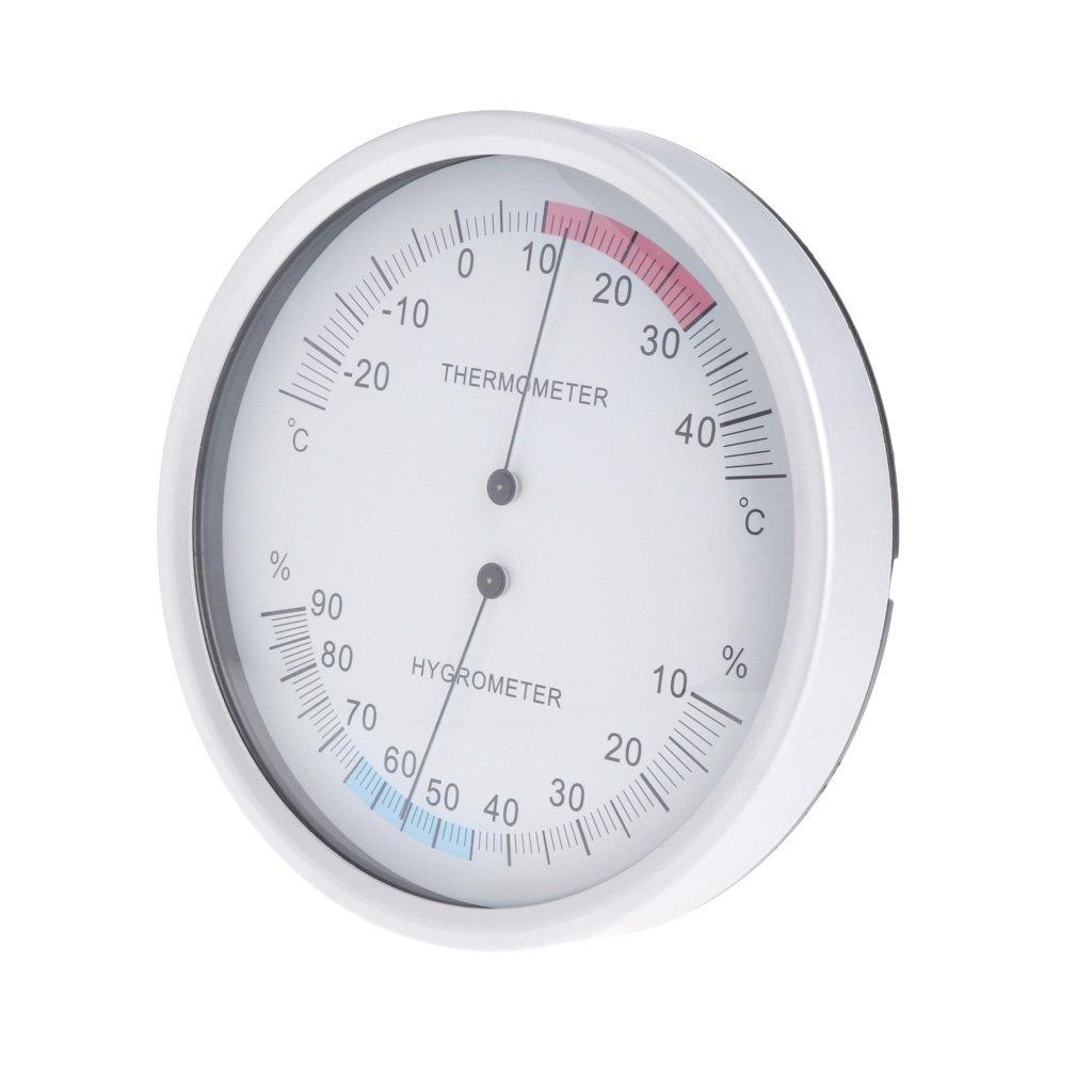 12,7 cm analog Tubicu Thermometer//Hygrometer zur Wandmontage