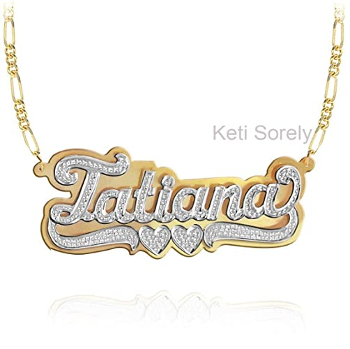 07db569aa Image Unavailable. Image not available for. Color: Nameplate Necklace ...