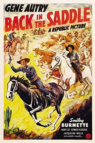 Posterazzi Back in The Saddle from Left: Gene Autry Smiley Burnette 1941. Movie Masterprint Poster Print (11 x 17)