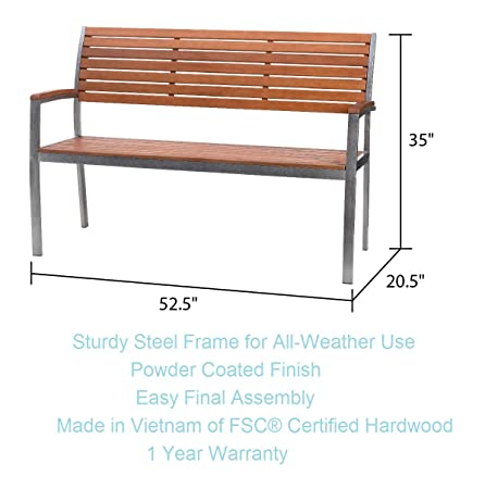 Phat Tommy Outdoor Patio Garden Fusion Bench – for Your Lawn and Backyard Furniture Needs