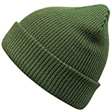 MaxNova Slouchy Beanie Hats Winter Knitted Caps Soft Warm Ski Hat (Army Green)