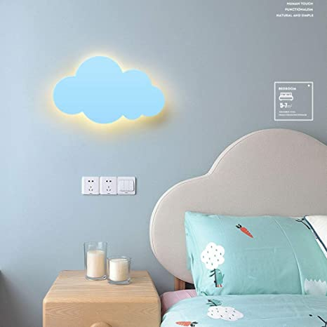 Locxo Personality Creative 15w Wall Lights Children S Room Cloud Wall Light Cartoon Simple Modern Led Bedroom Wall Light Cute Nordic Night Wall Gang Wall Light Amazon De Lighting