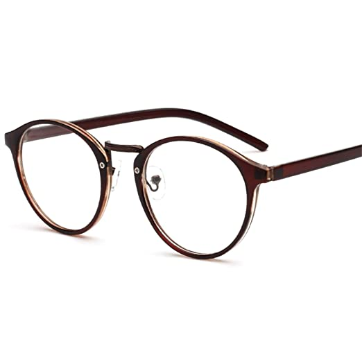 381ade4bd3b7 Image Unavailable. Image not available for. Color  CARPRATO Fashion Round Eyewear  Frame Stylish ...