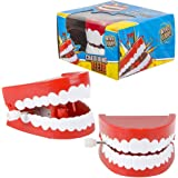 ArtCreativity Chattering Teeth Wind Up Toy, Set of 6, Windup Chomping Toy Mouth, Dental Tooth Party Decorations, Fun…