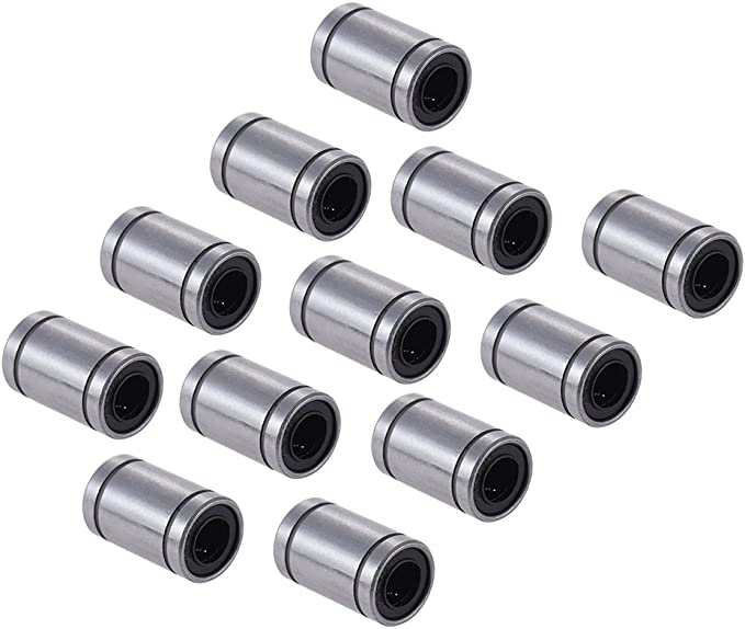 Deofficially 12pcs LM8UU 8mm Dia Dentro de bolas lineales de goma ...