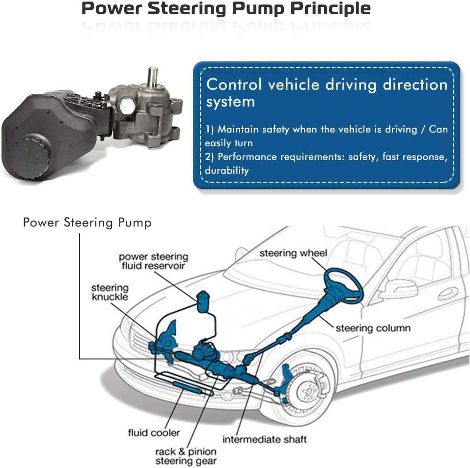 Power Steering Pump Fit For 2007 Chrysler Aspen 2002 2003 2004 2005 2006 2007 Dodge Ram 1500 Power Assist Pump Replace # 20-70269 2004-2007 Dodge Durango
