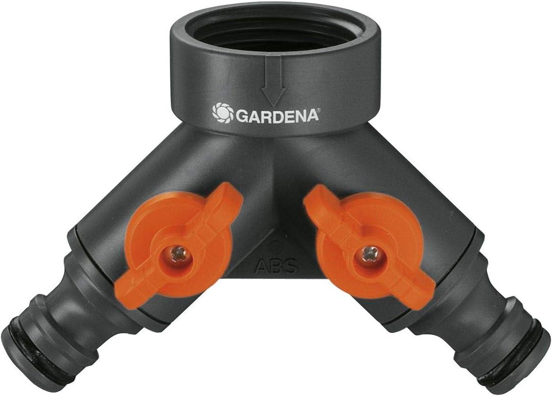 Gardena 36938 Garden Hose Y-Valve With Quick Connector