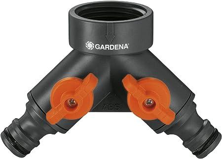 2//4 Wege 3//4 Zoll Wasserverteiler Messing für Gartenschlauch Gardena Wasserhahn