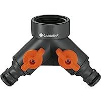 """GARDENA 2-wegventiel: Waterverdeler voor waterkraan met schroefdraad 26,5 mm (G 3/4""""), voor het aansluiten van twee…"""