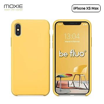 coque iphone xs max silicone jaune