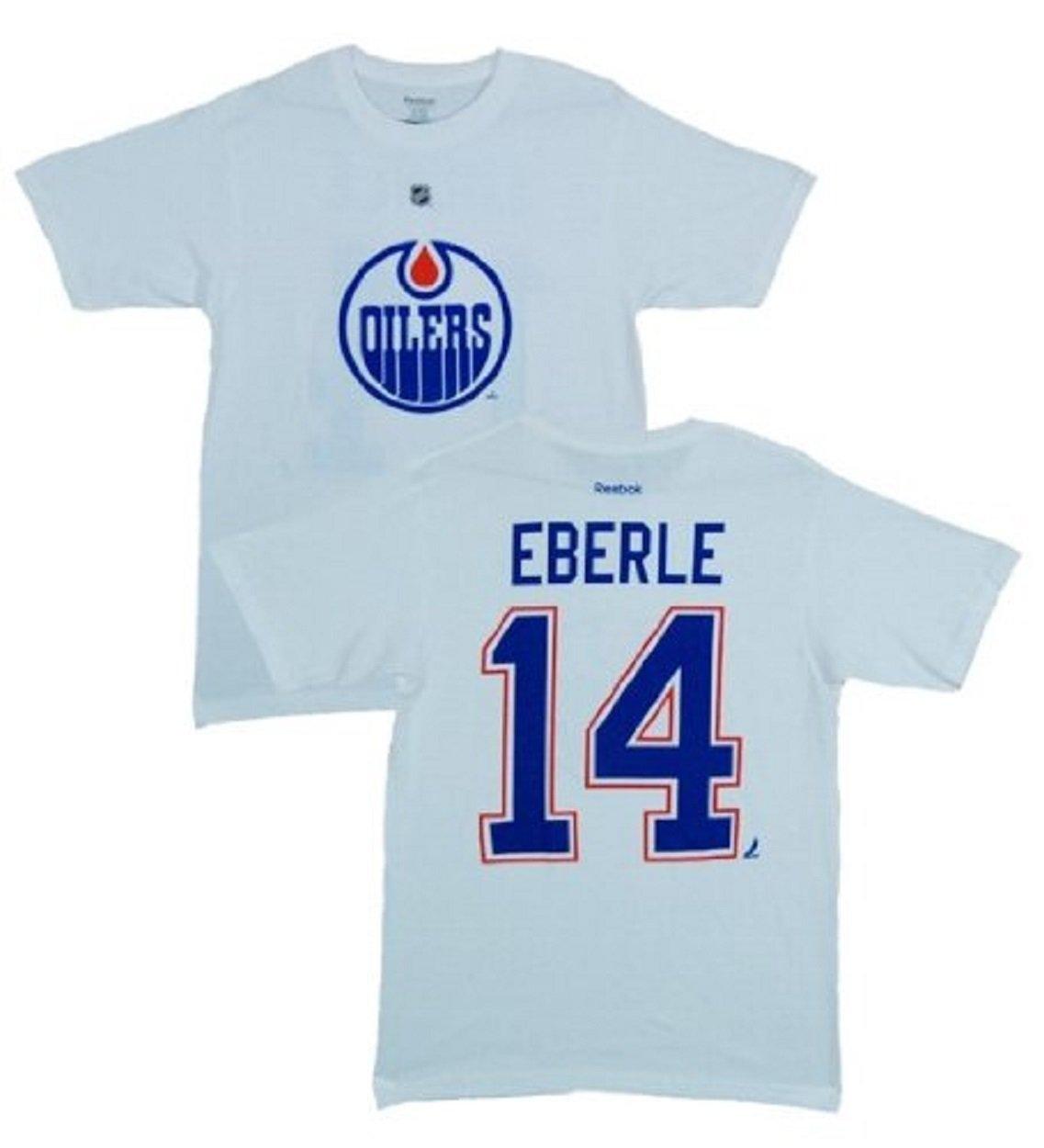 huge discount e6b4a 74ec9 Amazon.com : Reebok Edmonton Oilers Jordan Eberle White Name ...