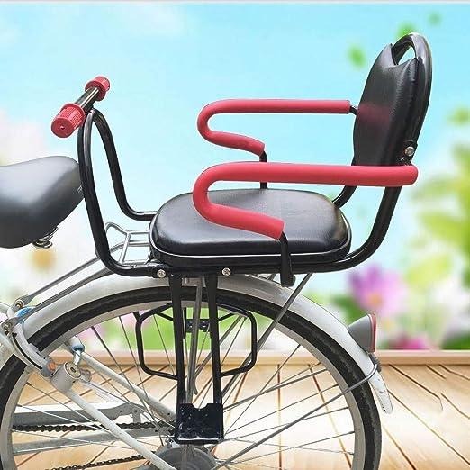 Sillín de bicicleta niño, asiento de seguridad for niños bicicletas Asiento posterior de la bicicleta de