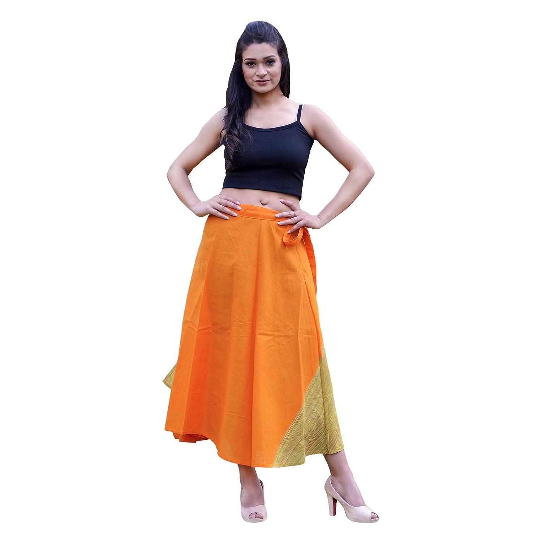 Multicoloured4 SNS New Wraparound Skirt Handloom Raw Cotton Fabric Kasuti Embroidered